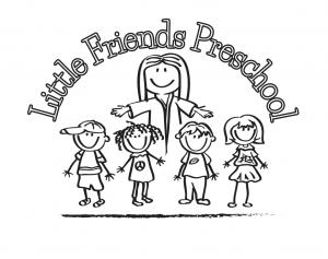 Little Friends Preschool. 4 children and Jesus